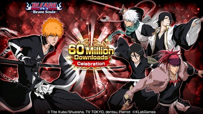 """""""Bleach: Brave Souls"""" Reaches Over 60 Million Downloads Worldwide! Starting on Friday, April 30, the 60 Million Downloads Celebration will kick off in-game in commemoration of this milestone. Also, from Saturday, May 1 there will be a social media campaign where fans will have a chance to win original Brave Souls swag! Furthermore, from Friday, April 30 the limited Event: Movie Pieces D/F/H will begin and players will have the chance to get new characters in the Movie Summons: Jet Black!"""