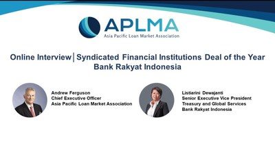 BRI Wins 2021 Syndicated Financial Institution Deal of the Year by APLMA