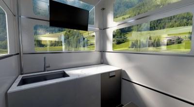 CyberLandr Kitchen in Alpine Setting