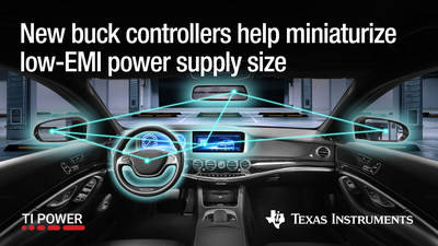 New buck controllers help miniaturize low-EMI power supply size.