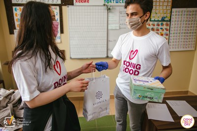More than 100 countries celebrated Good Deeds Day 2021. Good Deeds Day participants in Moldova preparing giveaway packages for the elderly.