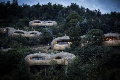 Wilderness Safaris Bisate Lodge (Volcanoes National Park, Rwanda), a founding member of Beyond Green (PRNewsfoto/Preferred Hotel Group)