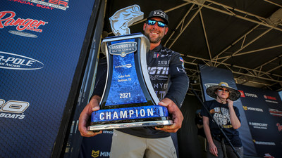 Lee Livesay, of Longview, Texas, has won the 2021 Guaranteed Rate Bassmaster Elite at Lake Fork with a four-day total of 112 pounds, 5 ounces.