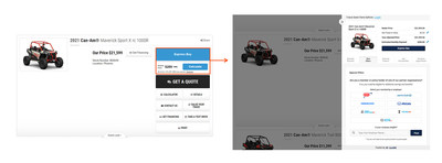 Rollick Digital Retailing Experience on Dealership Websites.