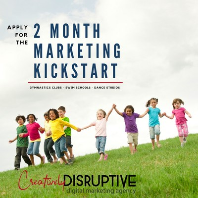 The Kids Activity Centers Kickstart Package promotes continued growth for one of the small business sectors hit hardest during the COVID-19 pandemic. Every month, Creatively Disruptive will partner with 10 gymnastics clubs, dance studios, and swim schools and give them a financial kickstart by waiving company fees for the first two months.