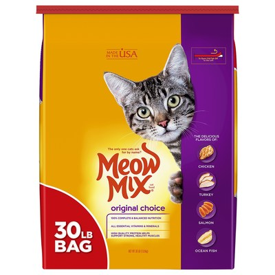 The J. M. Smucker Co. Issues Limited, Voluntary Recall of Two Lots of Meow Mix® Original Choice Dry Cat Food for Potential Salmonella Contamination