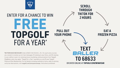 Topgolf Launches Major Baller Sweepstakes to Win FREE Topgolf For a Year and More