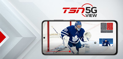 TSN 5G View leverages Bell 5G to offer fans exciting and interactive new ways to watch sports. (CNW Group/TSN)