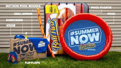 Standing in summer solidarity with the Ball Park brand is simple -- and those who join have a chance to win summer swag to celebrate the season in style. The essentials in the kit include a hot dog pack pool float, kiddie pool, pool noodle with grill marks, visor, apron, flip flops and sunscreen.