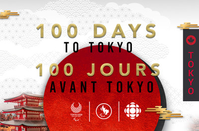 May 16, 2021 marks 100 days to the start of the Tokyo Paralympic Games. PHOTO: Canadian Paralympic Committee (CNW Group/Canadian Paralympic Committee (Sponsorships))