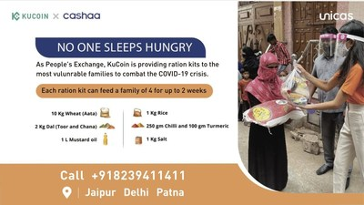 KuCoin joins hands with Cashaa to start distribution of food and daily supplies to 2000 families in India