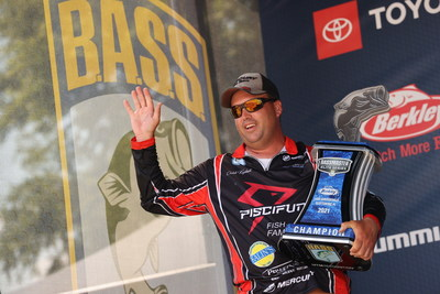 Caleb Kuphall, of Mukwonago, Wis., has won the 2021 Berkley Bassmaster Elite at Lake Guntersville with a four-day total of 85 pounds, 14 ounces.