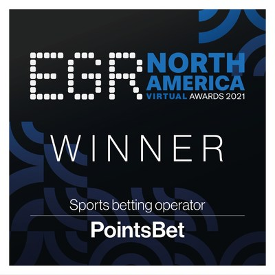 """PointsBet wins """"Sports betting operator"""" honors at EGR North America Awards 2021"""