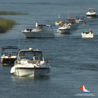SBAW 2021 - From powerboats, to sailboats, to paddle craft, we know Canada's waterways will be busy. Learn how to stay safe this summer. (CNW Group/Canadian Safe Boating Council)