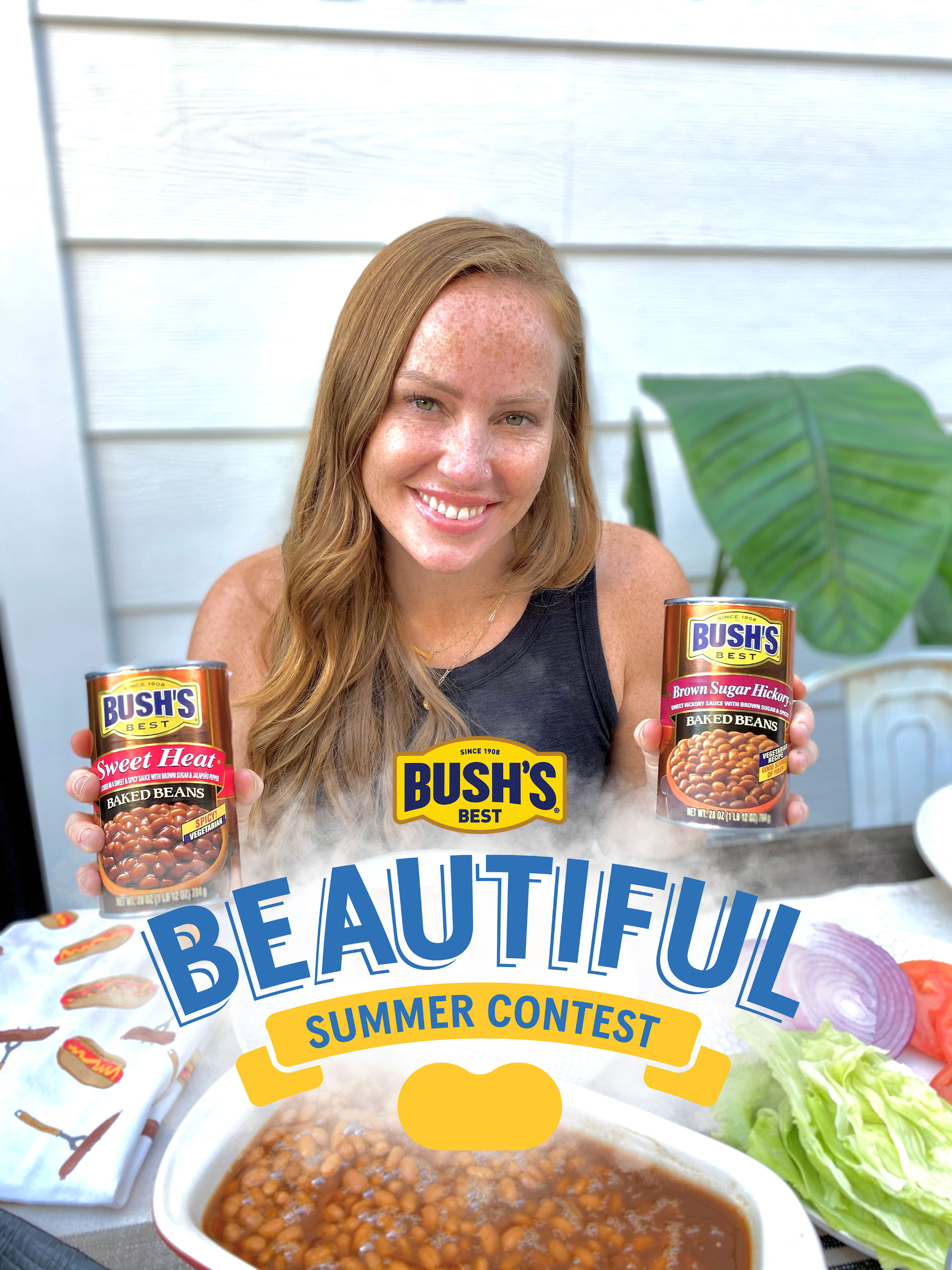 """Bush's Beans and HGTV's """"Good Bones"""" host Mina Starsiak Hawk are teaming up to make summer entertaining easy with DIY tips fans need to prepare for backyard gatherings."""