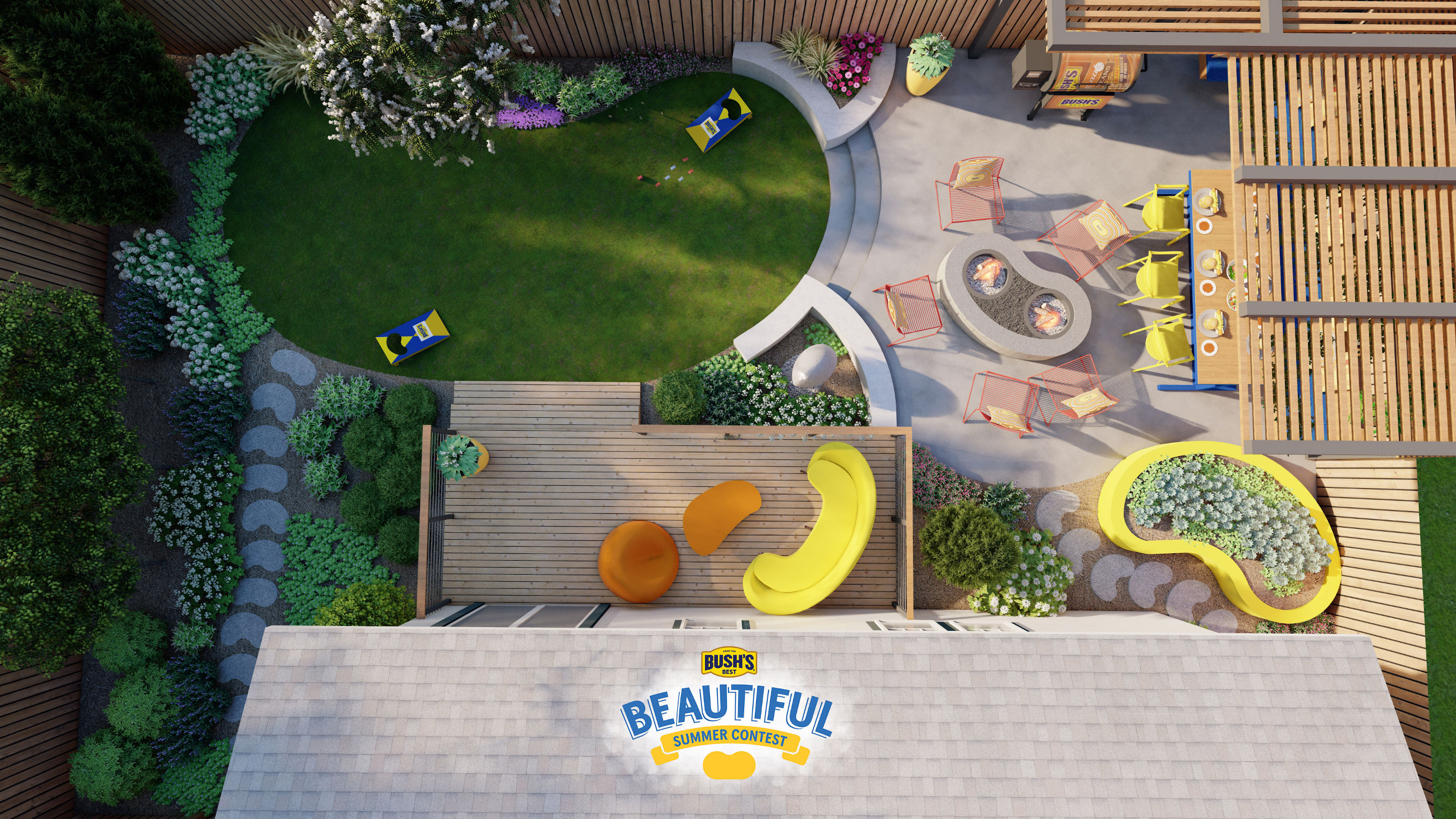 """Bush's® Beans is teaming up with HGTV's """"Good Bones"""" host Mina Starsiak Hawk to give one lucky fan a chance to win a Bush's Bean-themed backyard makeover of their dreams, designed by Mina."""
