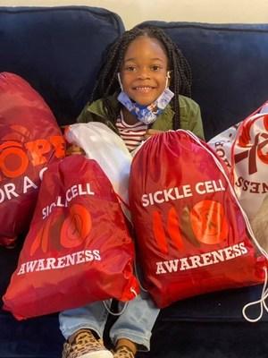 Five-year-old wish kid Amina from Make-A-Wish Metro New York