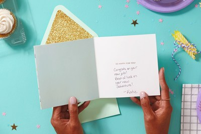 Hallmark will print the message on the card, cover the price of the stamp and send it to the recipient's mailing address.