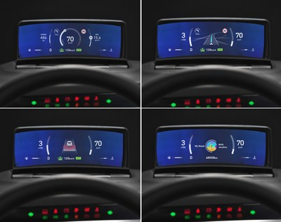 Hyundai Mobis Develops the world's first Clusterless HUD, which integrates the functions of the cluster and the HUD (Heads-Up Display).