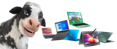 Gateway's New Spokes-Cow Introduces Notebooks Equipped with 11th Gen Intel Core Processors and Tuned by THX™ Audio