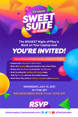 The Toy Insider's Sweet Suite @ Home Virtual Summer Toy Party is BIGGER and Better than Ever!
