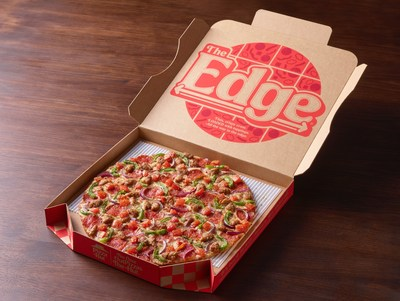 Pizza Hut takes it all the way to The Edge® with nationwide return of its iconic thin crust pizza available for a limited time. Featuring a thin, crispy, light crust, packed with toppings and finished with a signature garlic, herb seasoning blend, The Edge is perfect for summer patio season.
