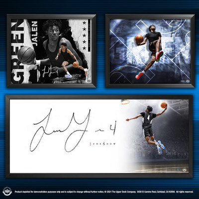 Upper Deck, the premier global sports and entertainment collectibles company, has announced the upcoming release of brand new autographed memorabilia of expected top Draft pick Jalen Green that will add to the company's extensive portfolio of exclusive basketball memorabilia.