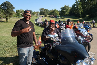 5th KC United in Peace Ride lines up to roll through the city in the name of peace.