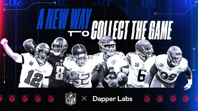 The NFL, the NFLPA and Dapper Labs announce new NFT deal to create exclusive digital video highlights (CNW Group/Dapper Labs, Inc.)