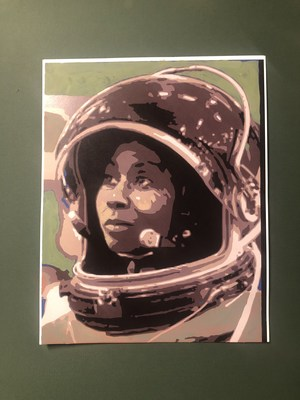 Artist rendering of the Earthwork of astronaut Stephanie Wilson, a 4,800 square-foot natural exhibit on display starting October 11 in downtown Atlanta to commemorate World Space Week and to inspire women and girls through the high-profile STEAM exhibit.