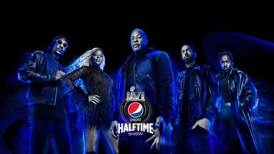 Dr. Dre, Snoop Dogg, Eminem, Mary J. Blige and Kendrick Lamar Come Together for the PEPSI® Super Bowl LVI Halftime Show in Inglewood, CA