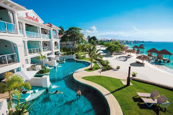 Pictured here: Sandals Montego Bay, the flagship resort where it all began for Sandals Resorts Luxury Included® portfolio.